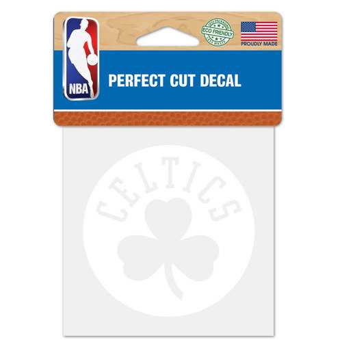 Boston Celtics Decal 4x4 Perfect Cut White Special Order