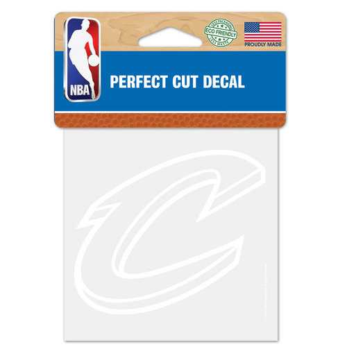 Cleveland Cavaliers Decal 4x4 Perfect Cut White