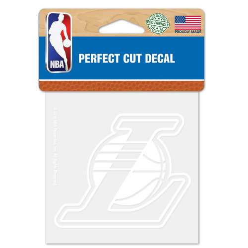 Los Angeles Lakers Decal 4x4 Perfect Cut White
