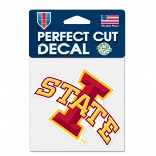 Iowa State Cyclones Decal 4x4 Perfect Cut Color Special Order