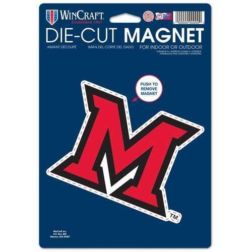 Miami of Ohio Redhawks Magnet 6.25x9 Die Cut Logo Design Special Order