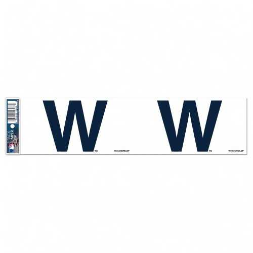 Chicago Cubs Decal 3x12 Bumper Strip Style W Design