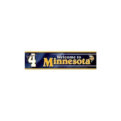 Minnesota Vikings Brett Favre Bumper Sticker