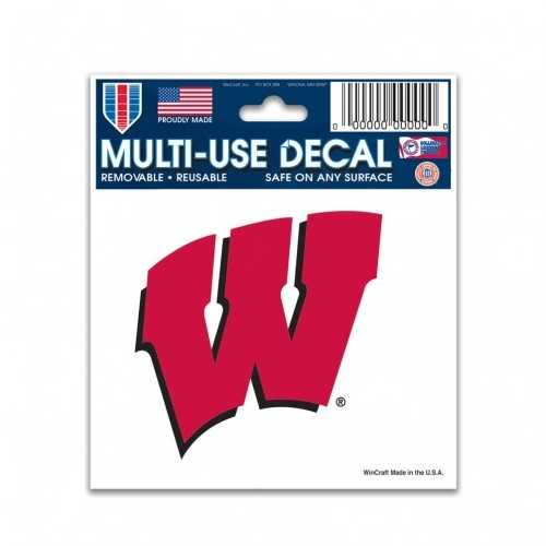 Wisconsin Badgers Decal 3x4 Multi Use Special Order