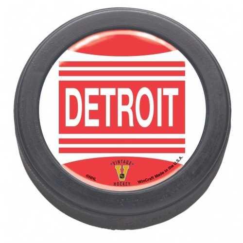 Detroit Red Wings Domed Hockey Puck - Packaged - Vintage Special Order