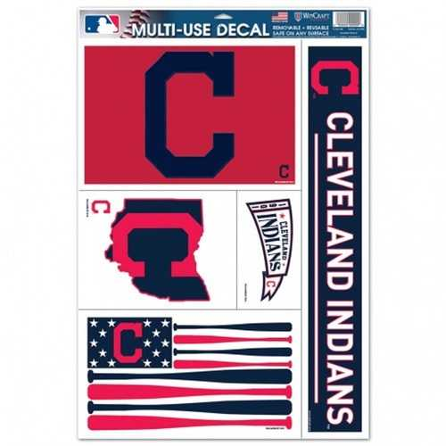 Cleveland Indians Decal 11x17 Multi Use 5 Piece