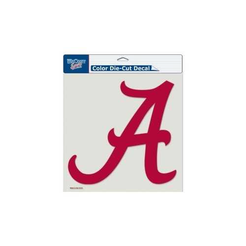 Alabama Crimson Tide Decal 8x8 Perfect Cut Color