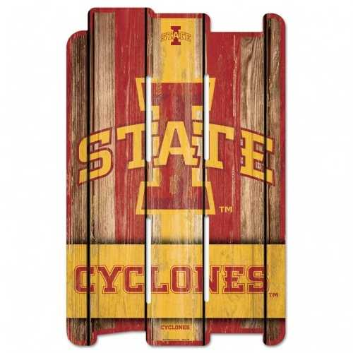 Iowa State Cyclones Sign 11x17 Wood Fence Style