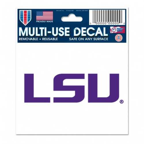 LSU Tigers Decal 3x4 Multi Use Special Order