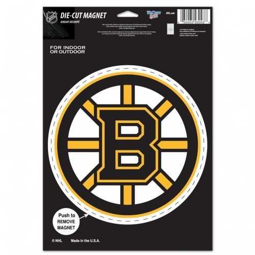 Boston Bruins Magnet 6.25x9 Die Cut Logo Design Special Order