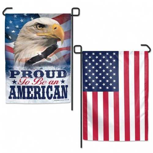 American Flag 12x18 Garden Style 2 Sided Proud American Special Order