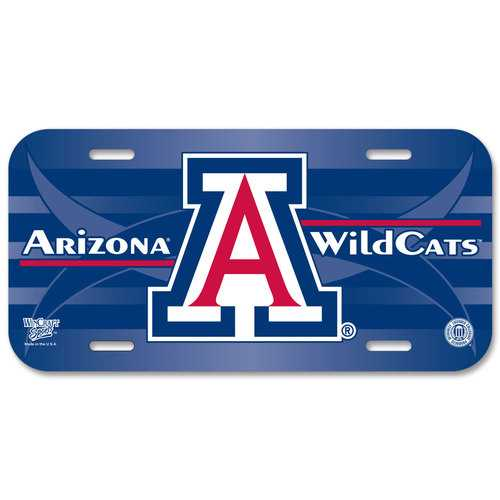 Arizona Wildcats License Plate Plastic Special Order