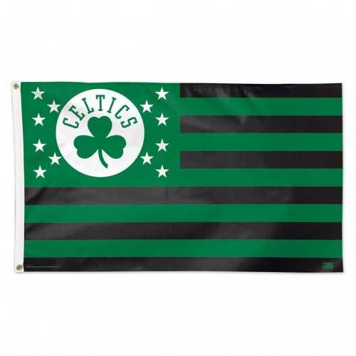 Boston Celtics Flag 3x5 Deluxe Style Stars and Stripes Design Special Order