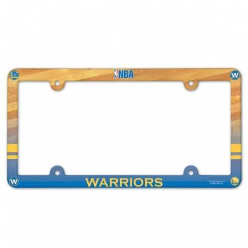 Golden State Warriors Plastic License Plate Frame Full Color Style