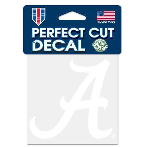 Alabama Crimson Tide Decal 4x4 Perfect Cut White Special Order