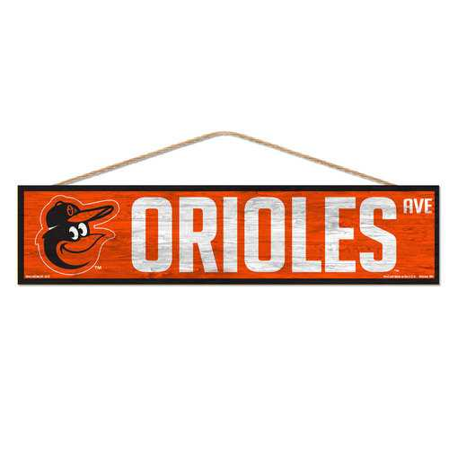 Baltimore Orioles Sign 4x17 Wood Avenue Design