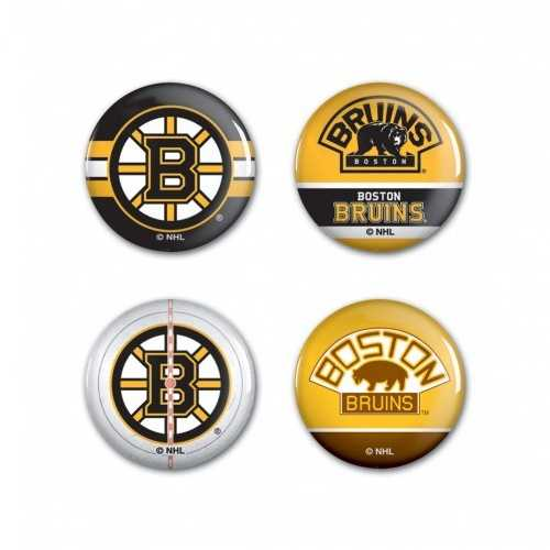 Boston Bruins Buttons 4 Pack Special Order