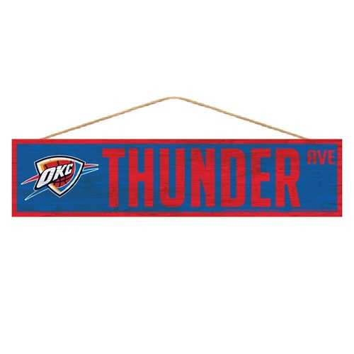 Oklahoma City Thunder Sign 4x17 Wood Avenue Design