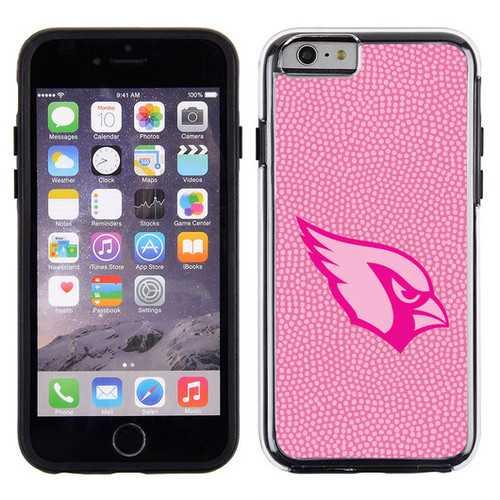 Arizona Cardinals Phone Case Pink Football Pebble Grain Feel iPhone 6