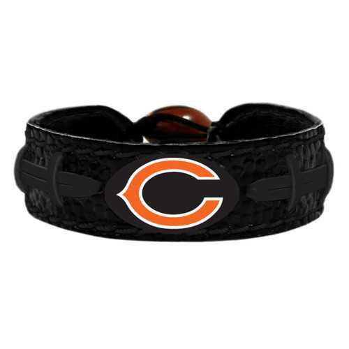 Chicago Bears Bracelet Team Color Tonal Black Football