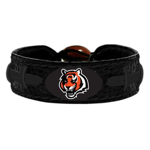 Cincinnati Bengals Bracelet Team Color Tonal Black Football