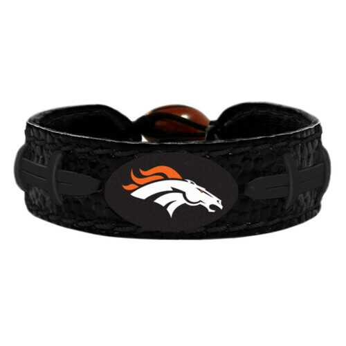 Denver Broncos Bracelet Team Color Football Tonal Black