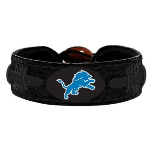 Detroit Lions Bracelet Team Color Tonal Black Football