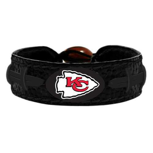 Kansas City Chiefs Bracelet Team Color Tonal Black Football