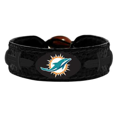 Miami Dolphins Bracelet Team Color Tonal Black Football