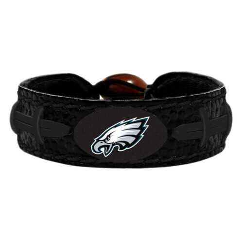 Philadelphia Eagles Bracelet Team Color Football Tonal Black
