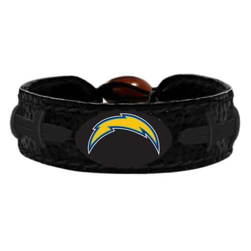 Los Angeles Chargers Bracelet Team Color Tonal Black Football