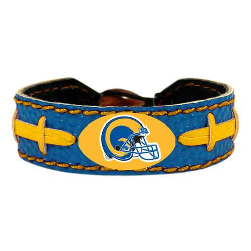 Los Angeles Rams Bracelet Team Color Vintage Logo Football