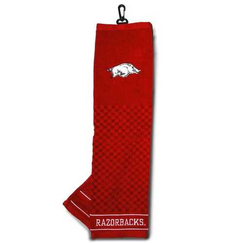"Arkansas Razorbacks 16""x22"" Embroidered Golf Towel Special Order"