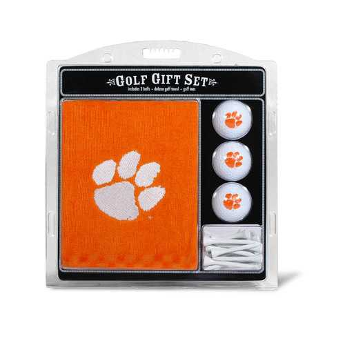 Clemson Tigers Golf Gift Set with Embroidered Towel