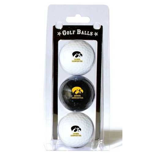 Iowa Hawkeyes 3 Pack of Golf Balls