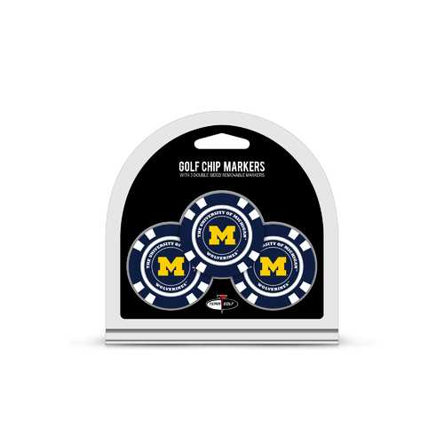 Michigan Wolverines Golf Chip with Marker 3 Pack