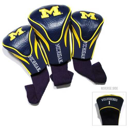 Michigan Wolverines Golf Club 3 Piece Contour Headcover Set - Special Order