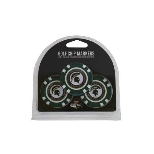 Michigan State Spartans Golf Chip with Marker 3 Pack