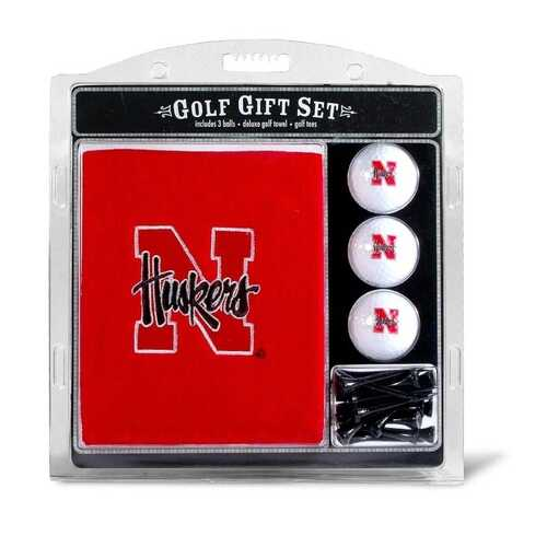 Nebraska Cornhuskers Golf Gift Set with Embroidered Towel