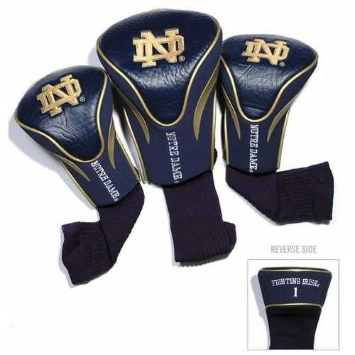 Notre Dame Fighting Irish Golf Club 3 Piece Contour Headcover Set