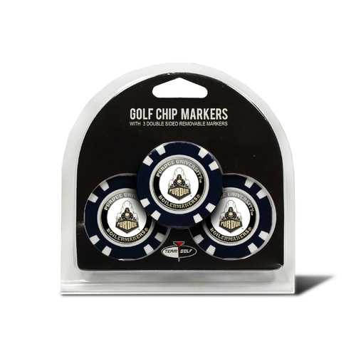 Purdue Boilermakers Golf Chip with Marker 3 Pack Special Order