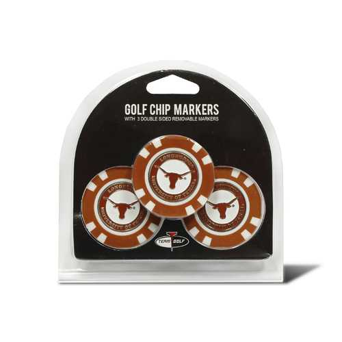 Texas Longhorns Golf Chip with Marker 3 Pack