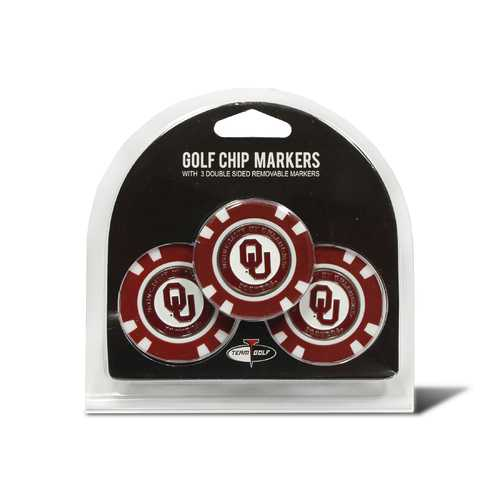 Oklahoma Sooners Golf Chip with Marker 3 Pack