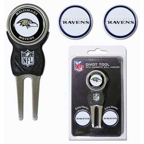Baltimore Ravens Golf Divot Tool with 3 Markers Special Order