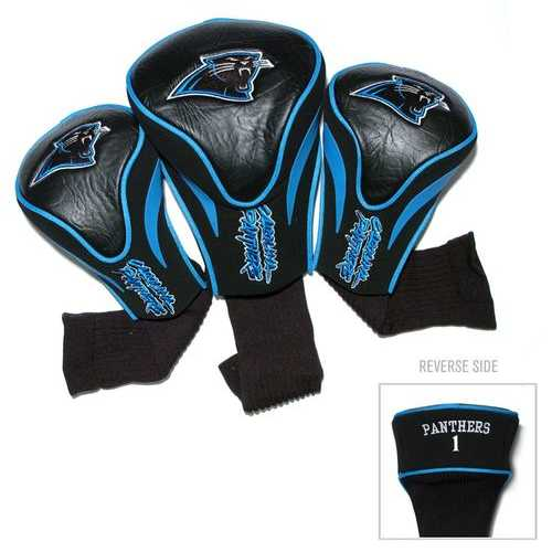 Carolina Panthers Golf Club 3 Piece Contour Headcover Set