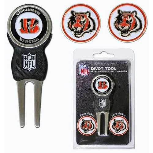 Cincinnati Bengals Golf Divot Tool with 3 Markers