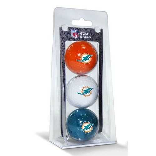 Miami Dolphins 3 Pack of Golf Balls