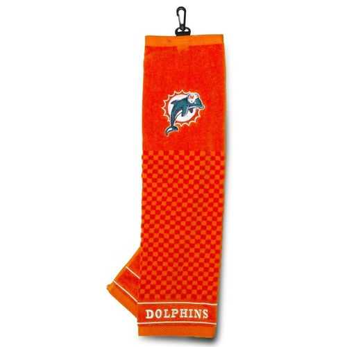 """Miami Dolphins 16""""x22"""" Embroidered Golf Towel"""