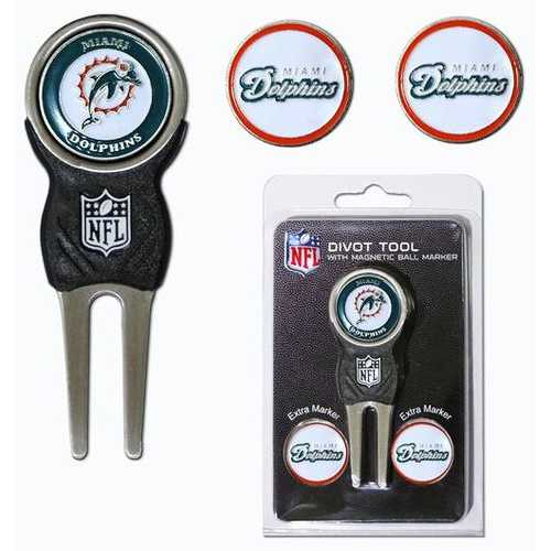 Miami Dolphins Golf Divot Tool with 3 Markers Special Order