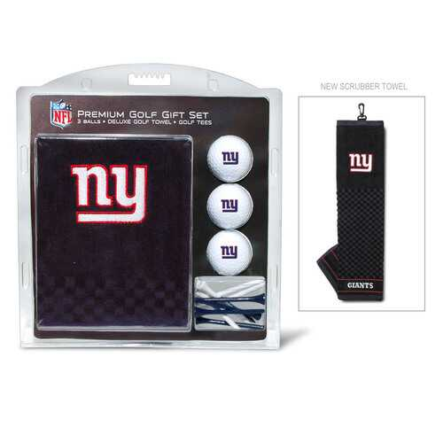 New York Giants Golf Gift Set with Embroidered Towel